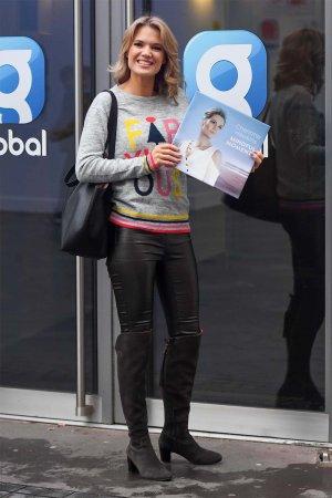 Charlotte Hawkins seen at Global Studios Classical FM