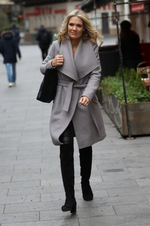 Charlotte Hawkins seen leaving Heart Radio