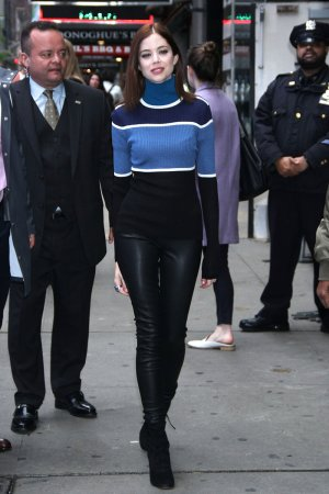 Charlotte Hope arrives at Good Morning America