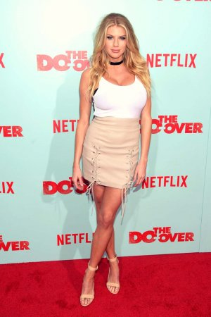 Charlotte McKinney attends The Do Over premiere