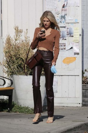 Charlotte McKinney seen at a cafe in Los Angeles