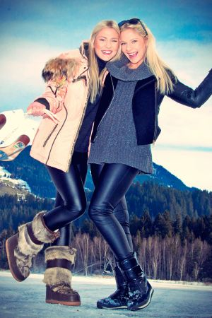 Chayenne and Valentina Phade at Winter Holidays