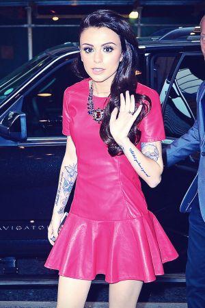 Cher Lloyd arriving at MTV Studios
