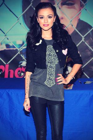 Cher Lloyd promoting Sticks & Stones