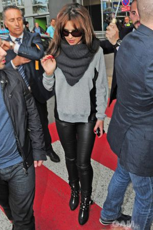 Cheryl Cole arrives at Nice Airport