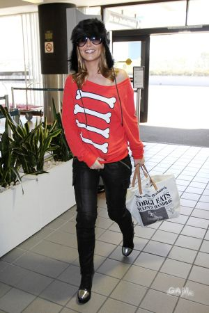 Cheryl Cole arriving at LAX