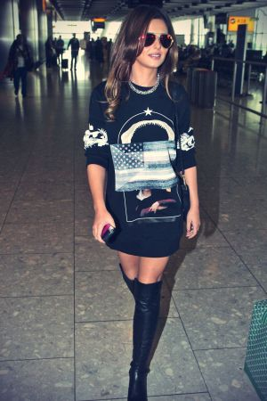 Cheryl Cole arriving at London's Heathrow Airport