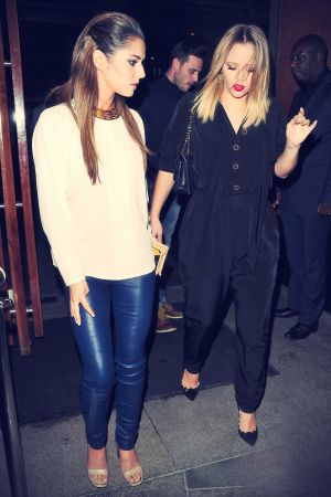 Cheryl Cole & Kimberley Walsh leaving Zuma restaurant