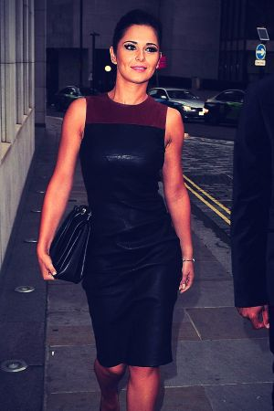 Cheryl Cole Leather Dress