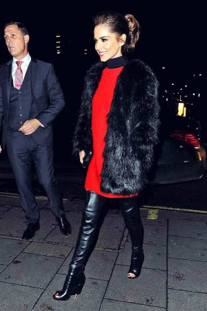 Cheryl Fernandez-Versini seen arriving at Sexy Fish restaurant