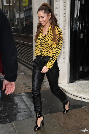 Cheryl Tweedy seen at Kiss FM Studios