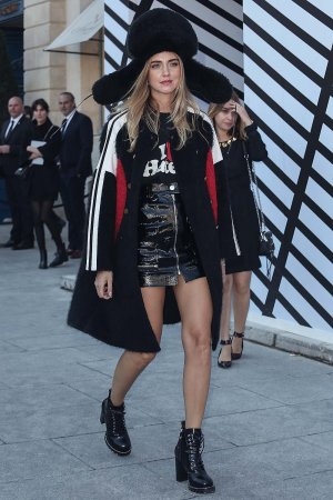 Chiara Ferragni attends the Louis Vuitton show