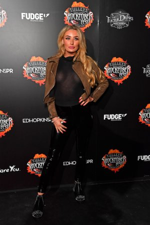 Chloe Crowhurst attends Tulley's Shocktober Fest Scream Park Press Night