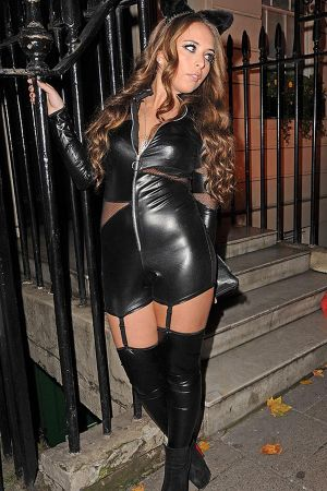 Chloe Green at posh members club Annabel's in London