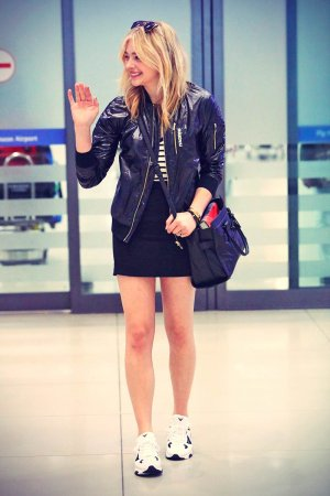 Chloe Moretz airport arrival candids in Incheon