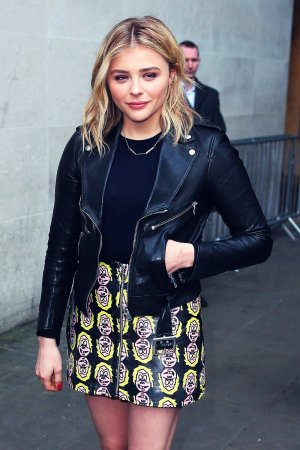 Chloe Moretz at BBC Radio One studio