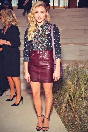 Chloe Moretz attends the Coach Women's Spring 2016 Fashion Show
