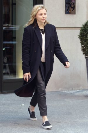 Chloe Moretz out in NYC