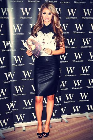 Chloe Sims at a signing of her new book at Waterstones Bluewater