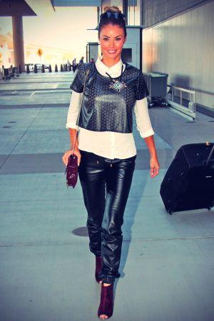 Chloe Sims arriving in Las Vegas