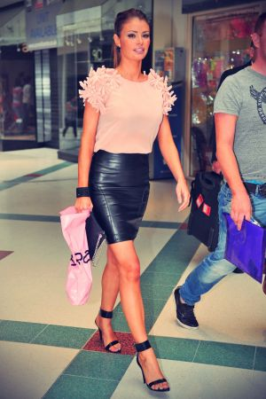 Chloe Sims attends a book signing event at WHSmith