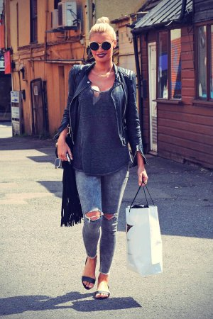 Chloe Sims out in Brentwood