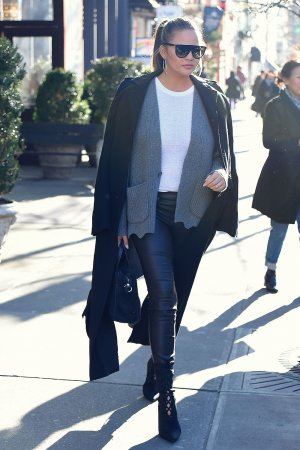 Chrissy Teigen out in NYC