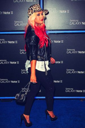 Christina Aguilera at Samsung Galaxy Note II launch party