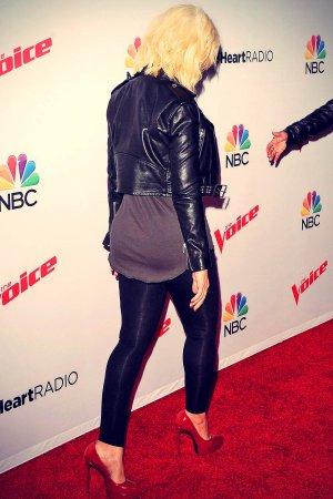 Christina Aguilera attends NBC The Voice Season 8 red carpet event