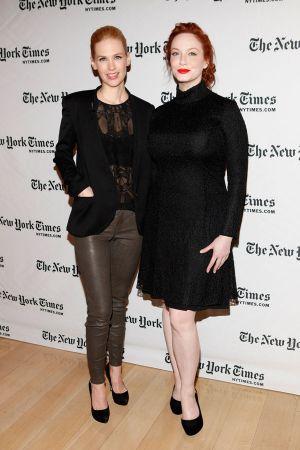 Christina Hendricks at TimesTalk: A Conversation with the Cast of Mad Men