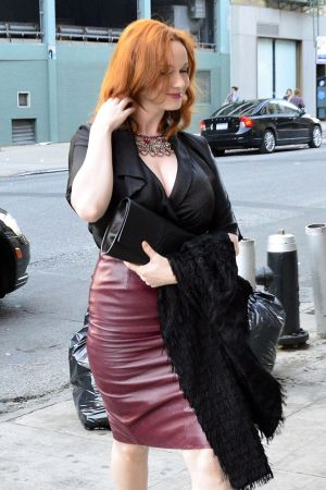 Christina Hendricks heading out for dinner