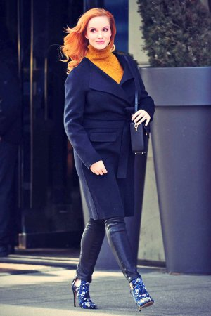 Christina Hendricks out in NYC