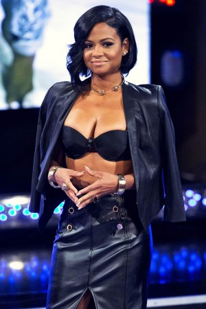 Christina Milian at Revolt TV studio