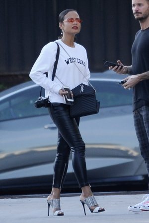 Christina Milian spotted leaving The Marciano Art Foundation