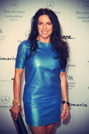 Christine Neubauer attends the Glaw Show during Mercedes-Benz Fashion Week