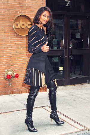 Ciara arriving at the ABC Studios