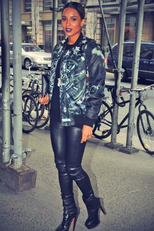 Ciara arriving in Midtown, New York City