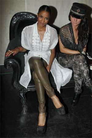 Ciara at Jean Paul Gaultier Front Row - Paris FW Spring