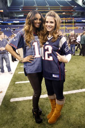 Ciara & Maria Menounos at Super Bowl Media Day in Indianapolis