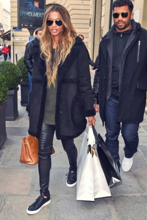 Ciara shopping at La Perla in Paris