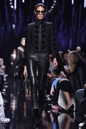 Cindy Bruna walks the runway during the Elie Saab show
