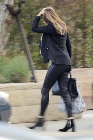 Cindy Crawford arriving at the Soho House Little Beach House
