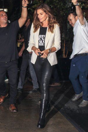 Cindy Crawford at the Mercer Hotel