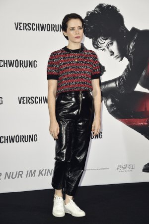 Claire Foy attends The Girl in the Spider's Web' photocall