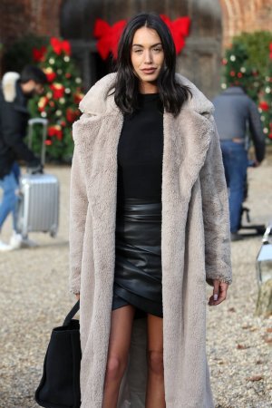 Clelia Theodorou at The Only Way is Essex Christmas Special filming