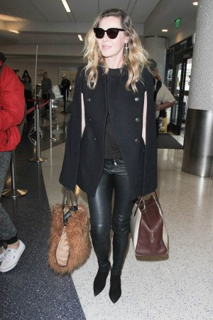 Connie Nielsen is seen at LAX