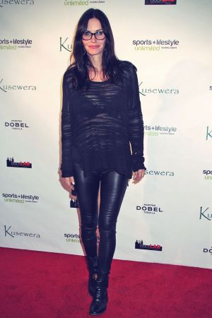 Courteney Cox attends Kusewera benefit party