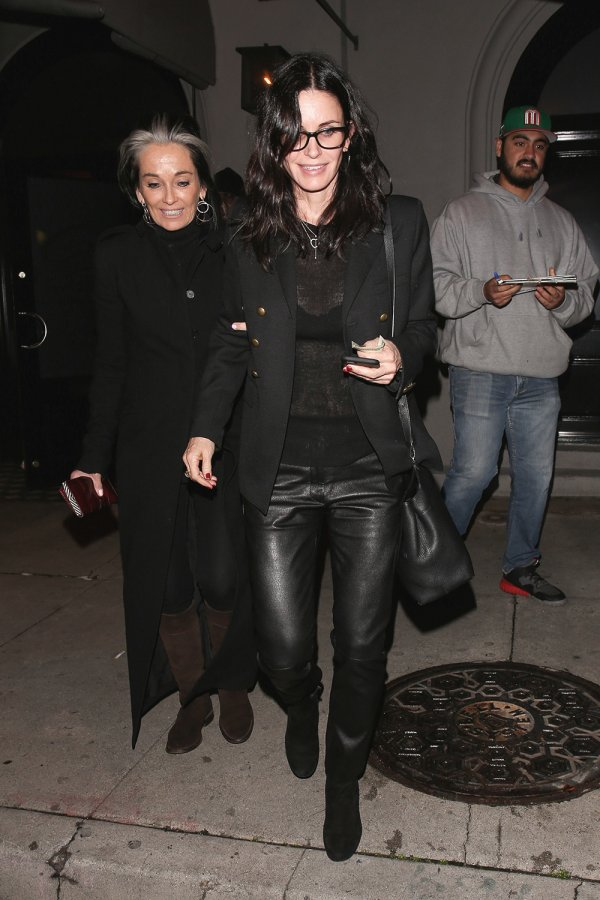 Courteney Cox is spotted leaving Craigs