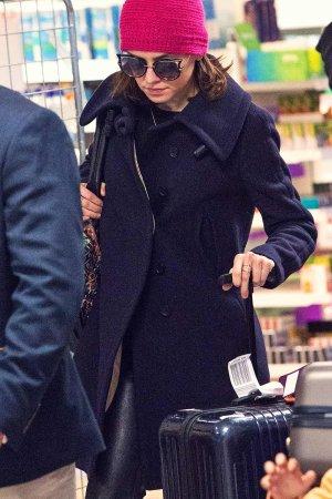 Daisy Ridley at Heathrow Airport