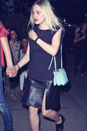 Dakota Fanning going to Dinner in NYC
